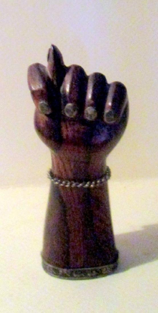 Carved Wood & Silver Figa - 2