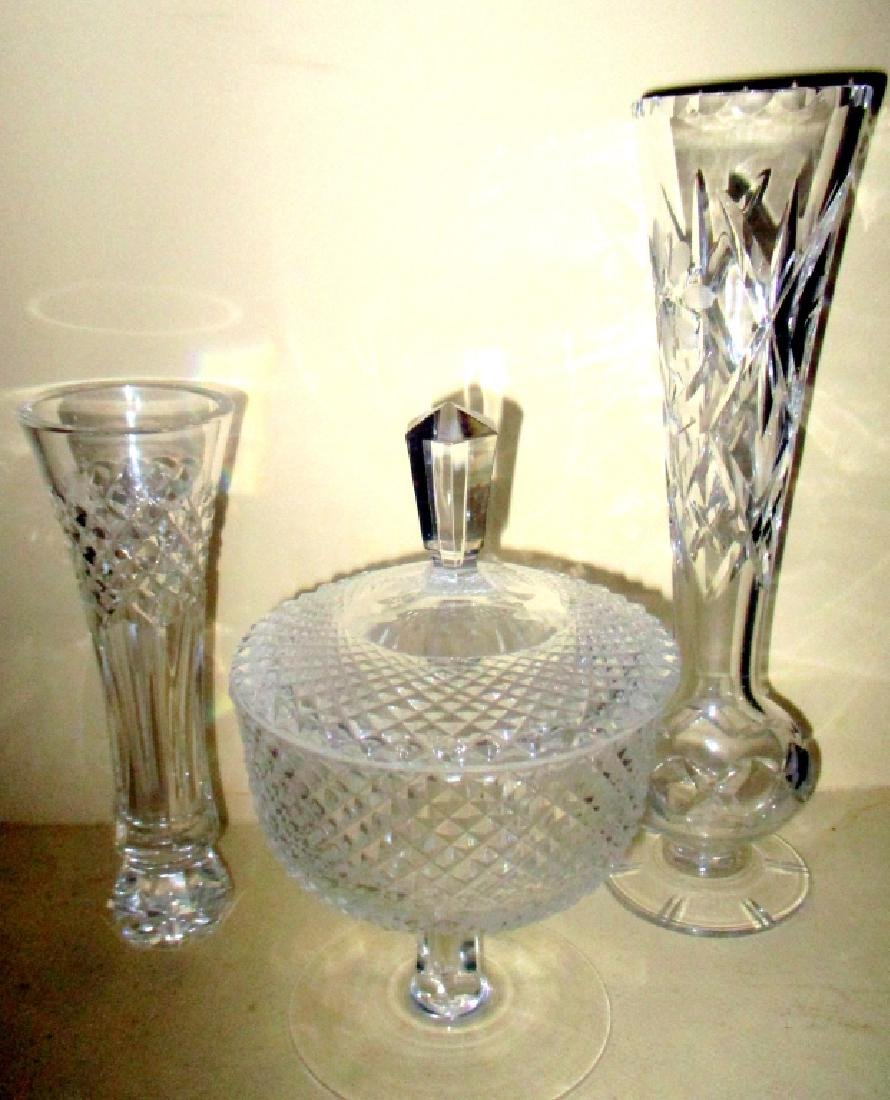 Three Pieces of Cut Crystal Glass