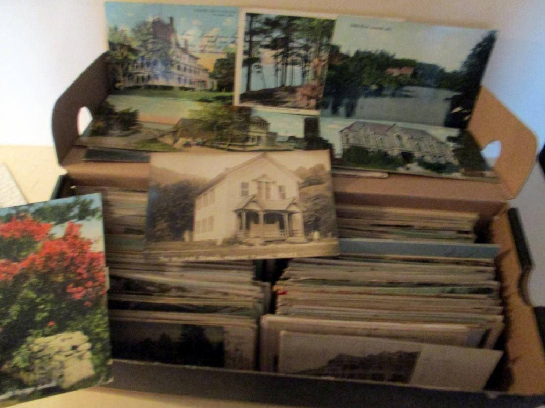 Shoe Box Filled w/ Vintage Postcards