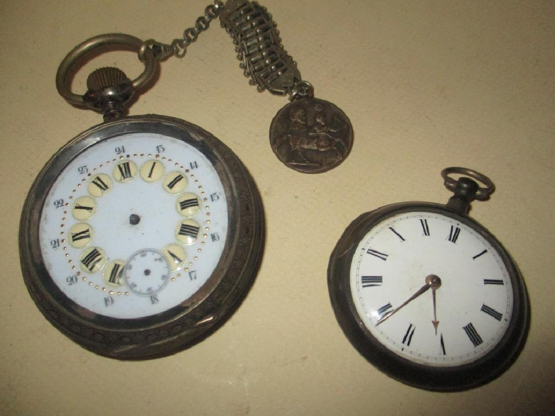 Two Silver 19th Century Watches