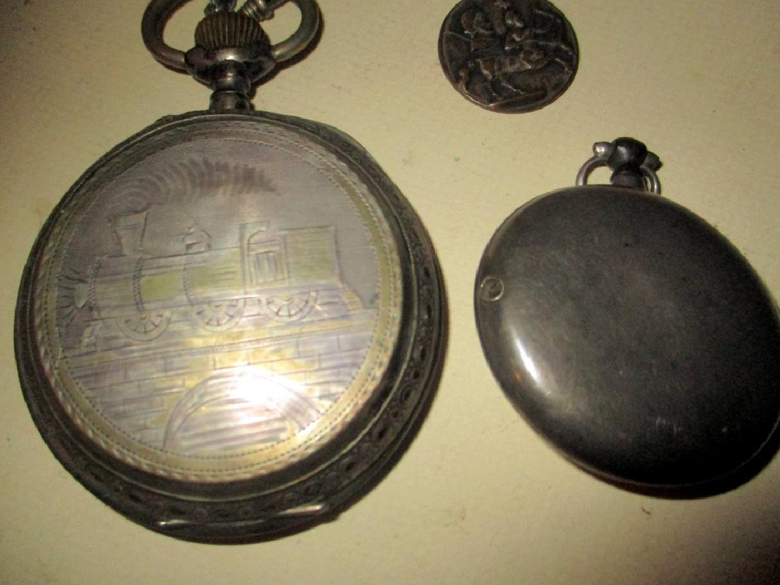 Two Silver 19th Century Watches - 2