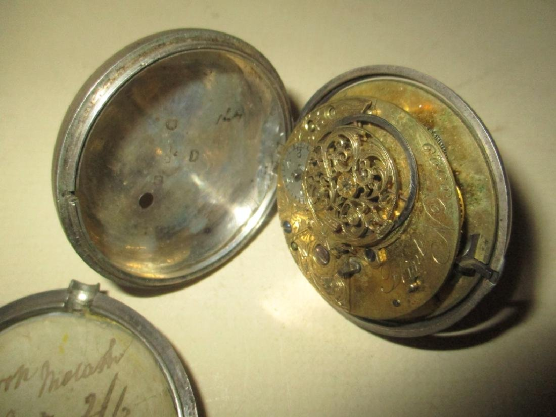 Two Silver 19th Century Watches - 3