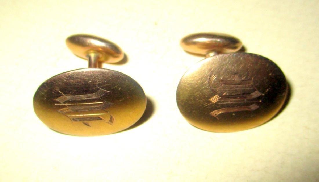 Pair of 10K Gold Cufflinks