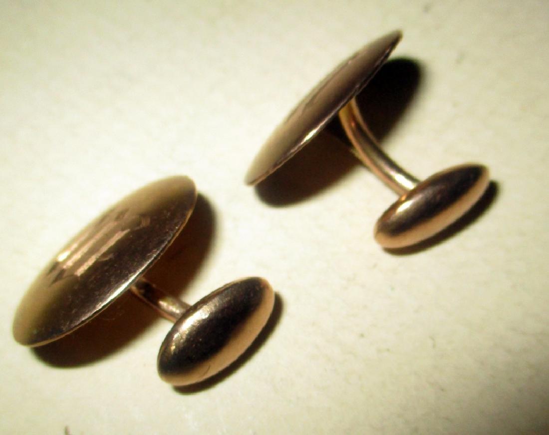 Pair of 10K Gold Cufflinks - 2