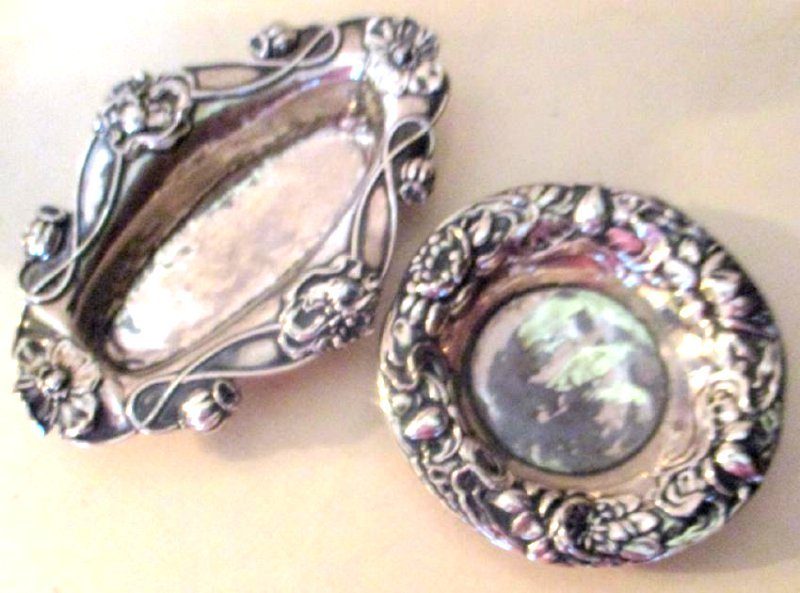 Two Sterling Small Dishes