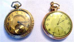 Two Mens Gold Filled Pocket Watches