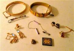 Eleven Pieces of Gold  Filled Victorian Jewelry