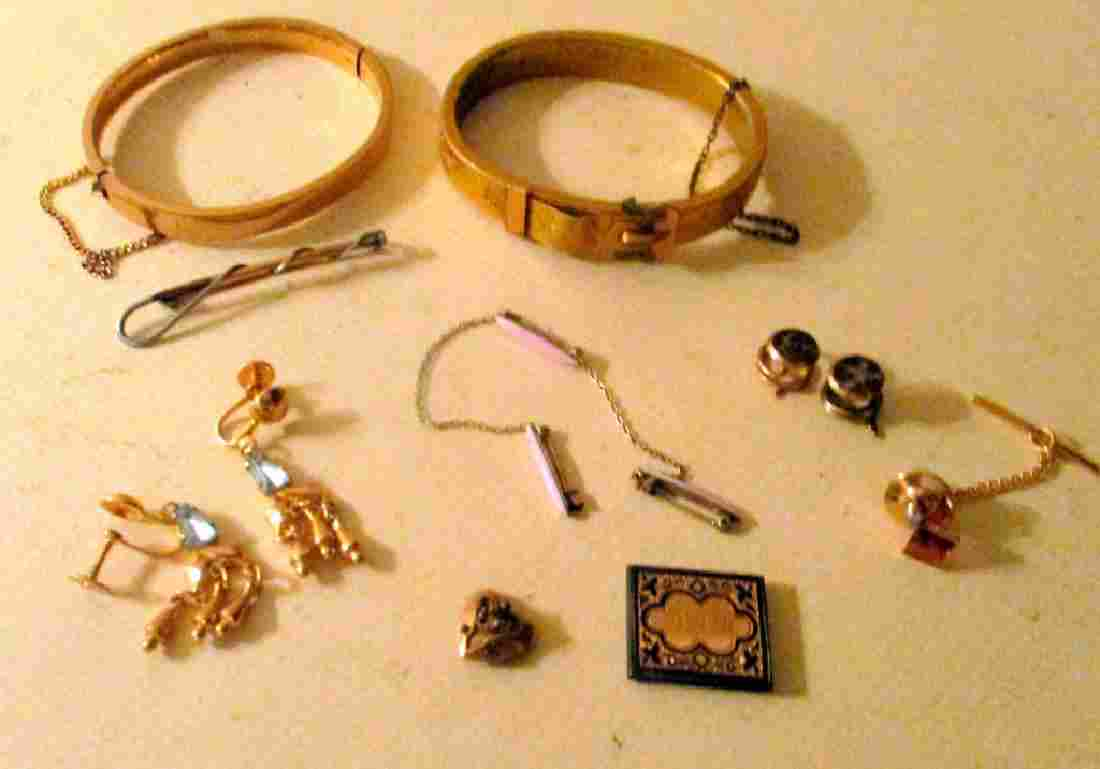Eleven Pieces of Gold & Filled Victorian Jewelry