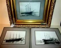 Three Early 20th Century Ship Photos