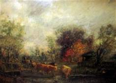 Impressionist Oil Painting Signed C. H. Miller