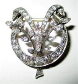 Diamond & Gold Edwardian Brooch