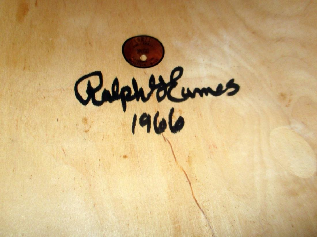 Mid Century Signed Eames Drum Table - 2