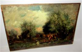Small Oil Painting Signed C. H. Miller