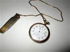 Mans Waltham Gold Filled Pocket Watch w Fob