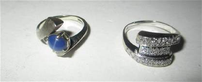 Two 14K Gold Ladys Rings