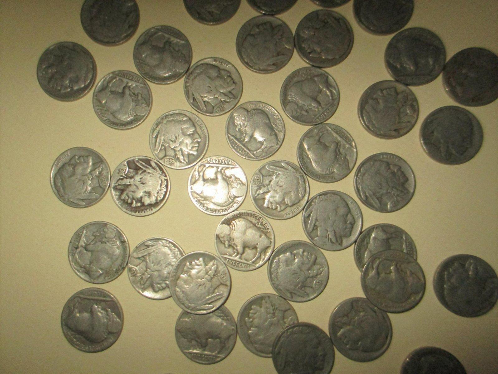Lot of 46 Indian Head Nickels