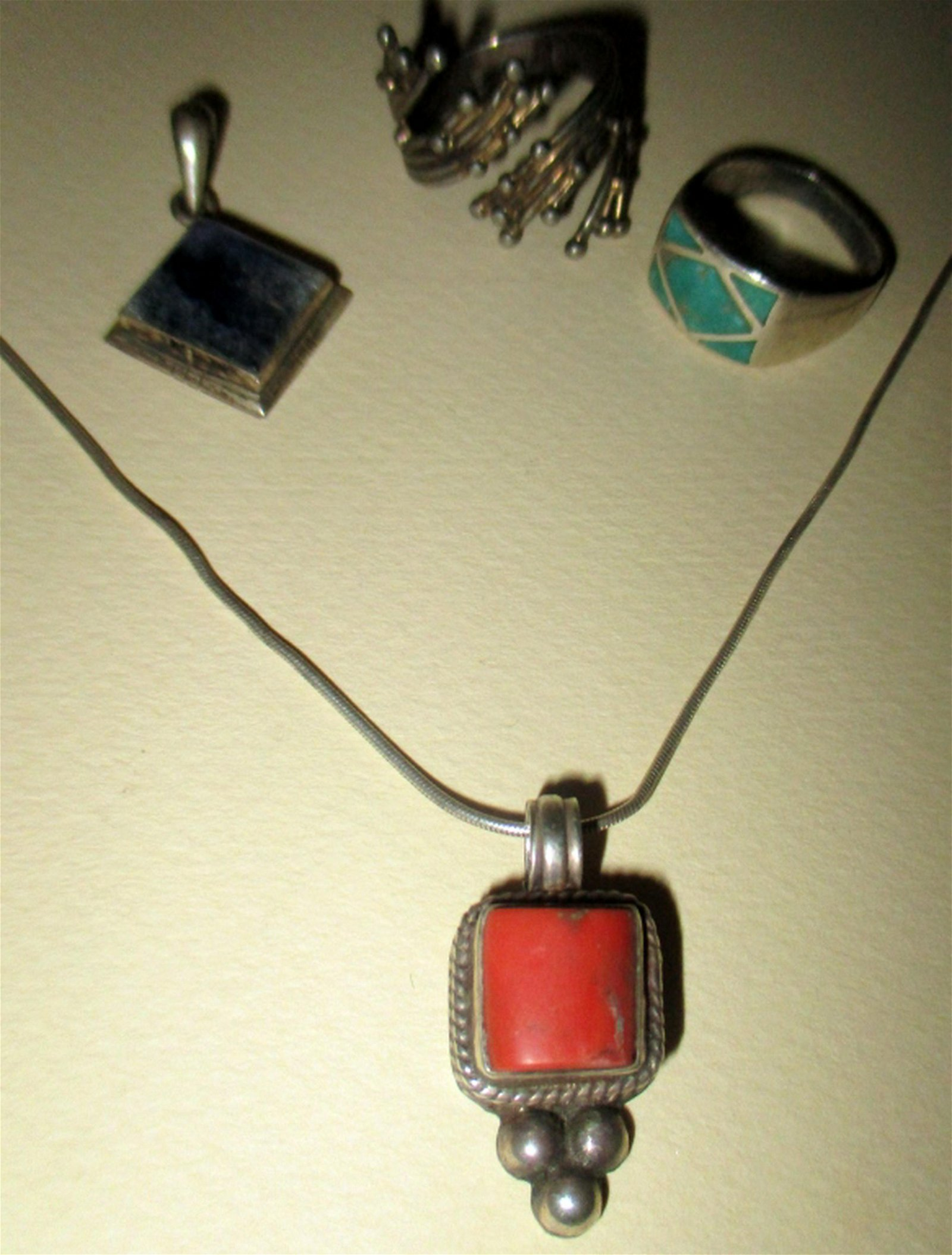 Five Pieces of Sterling Jewelry