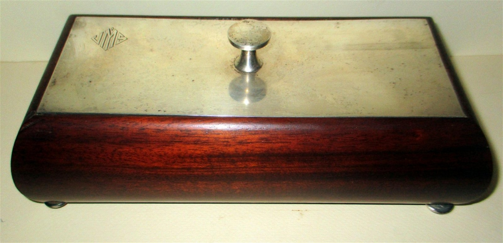 Mahogany & Sterling Trinket Box