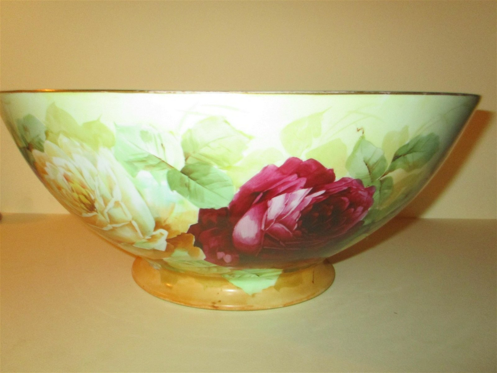 Hand Painted Vienna Porcelain Punch Bowl