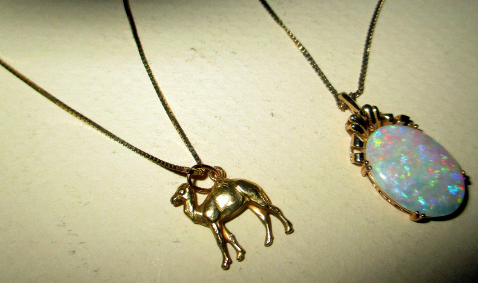 Lot of Two Gold Pendants