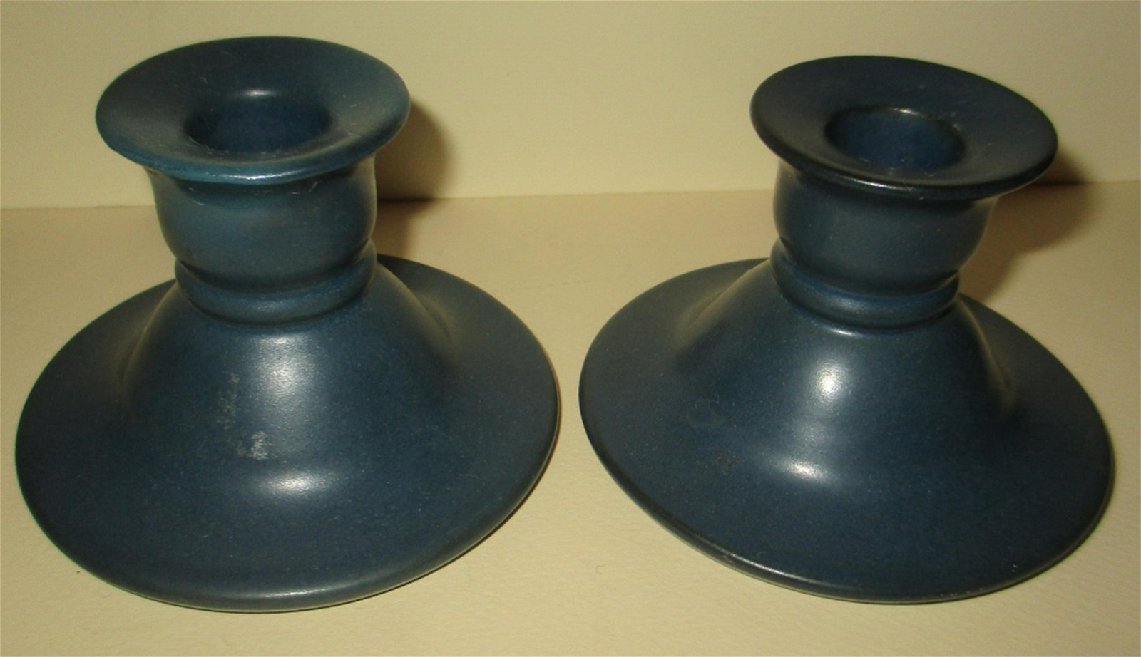 Pair of Marblehead Pottery Candle Holders