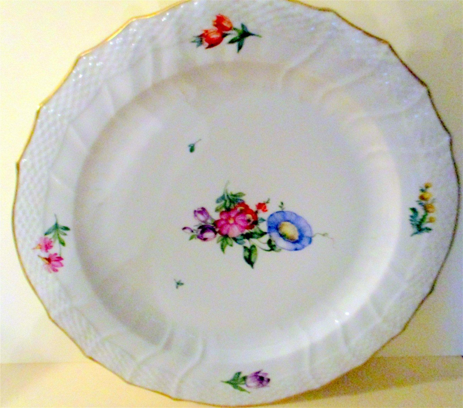 Royal Copenhagen Round Porcelain Cake Platter