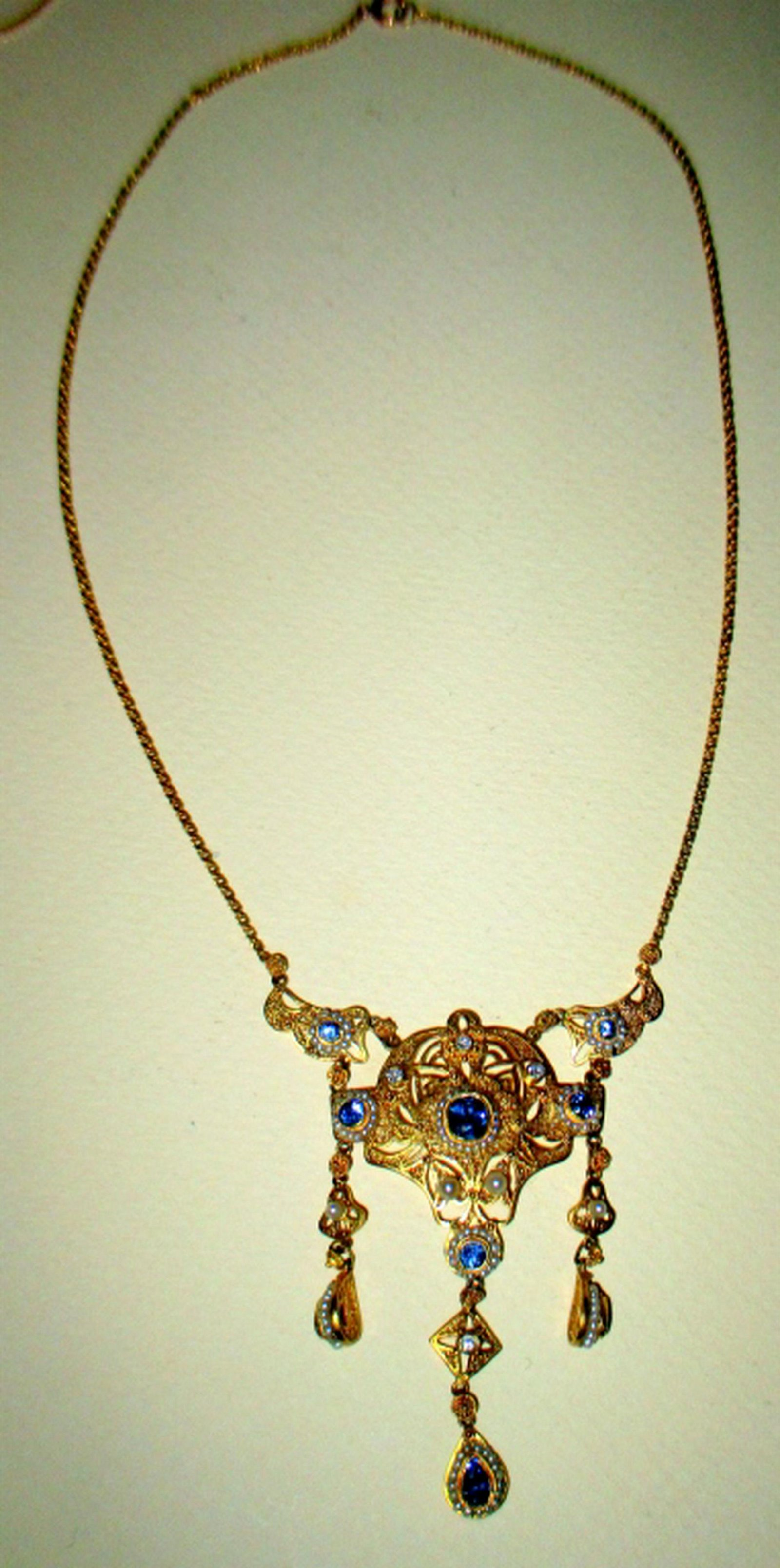Vintage Edwardian 14K Gold Necklace