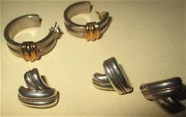 Lot of Tiffany & Co. Sterling & Gold Earrings