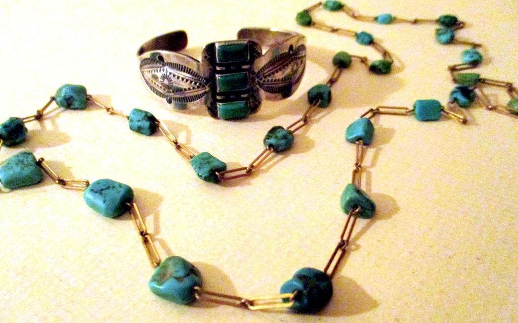 Two Pieces of Vintage Turquoise Jewelry