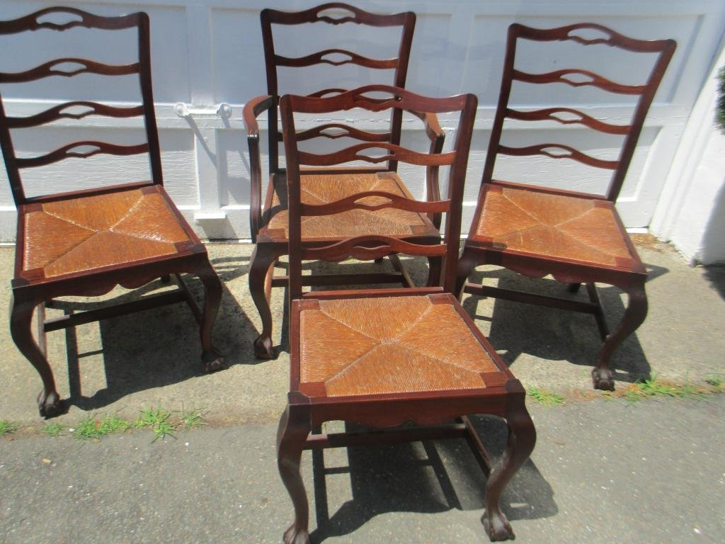Set of Five Chippendale Style Chairs