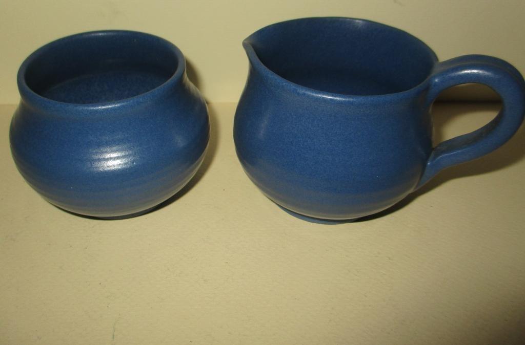 Marblehead Pottery Sugar & Creamer