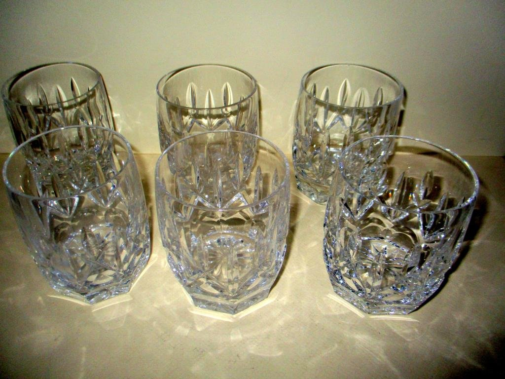 Set of Six Waterford Rocks Glasses
