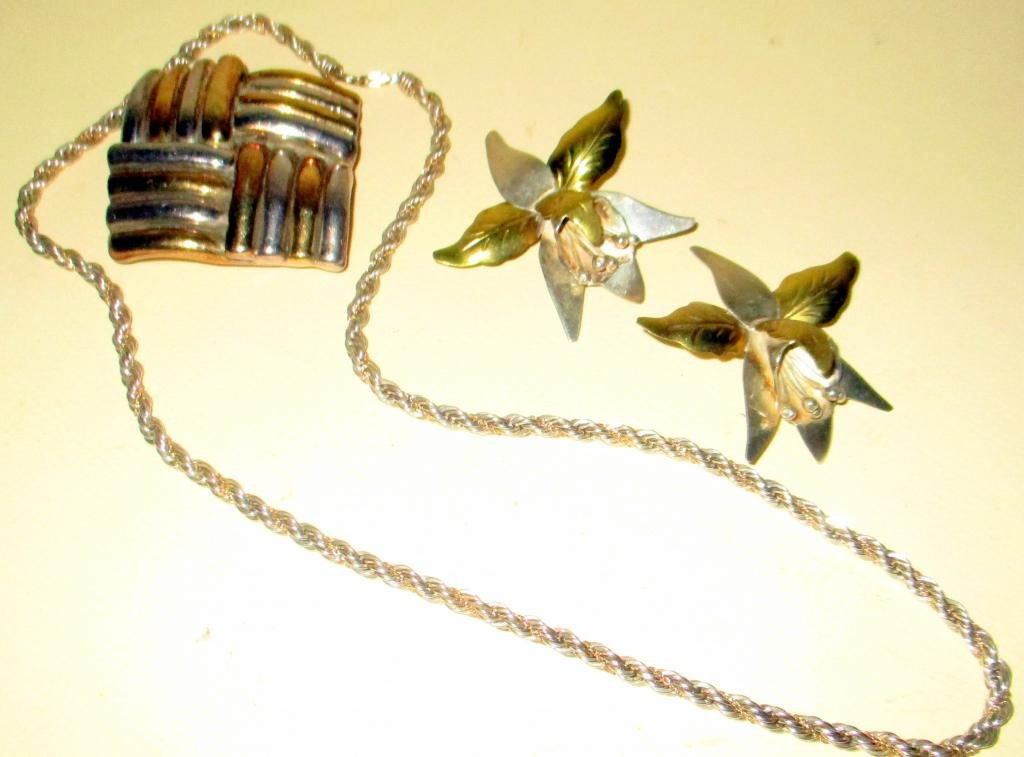 Lot of Sterling & Gold Jewelry