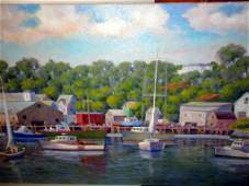 Oil Painting of Smith Cove Remo Gaietto