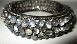 Vintage Sterling Bracelet with Moonstones