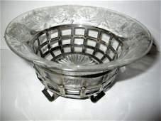 Sterling & Cut Glass Bowl