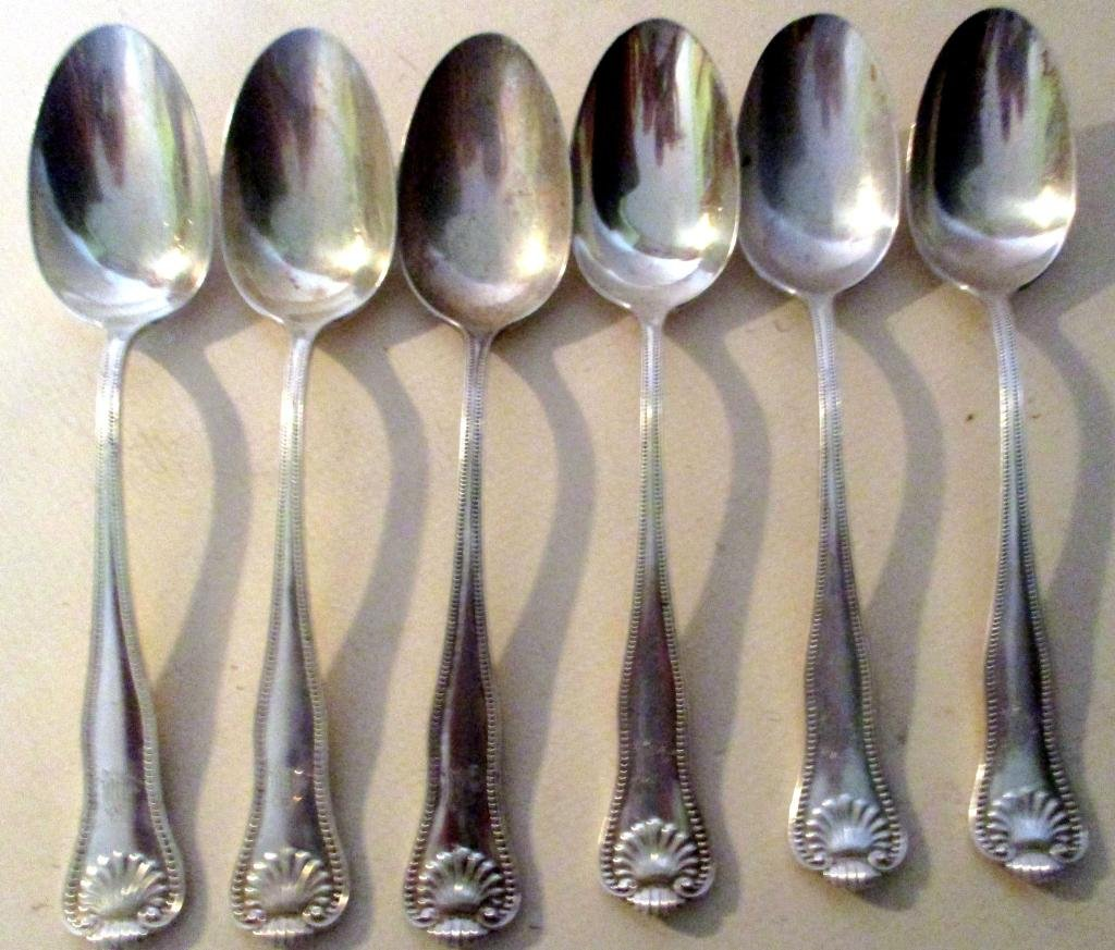 Set of Six Sterling Table Spoons