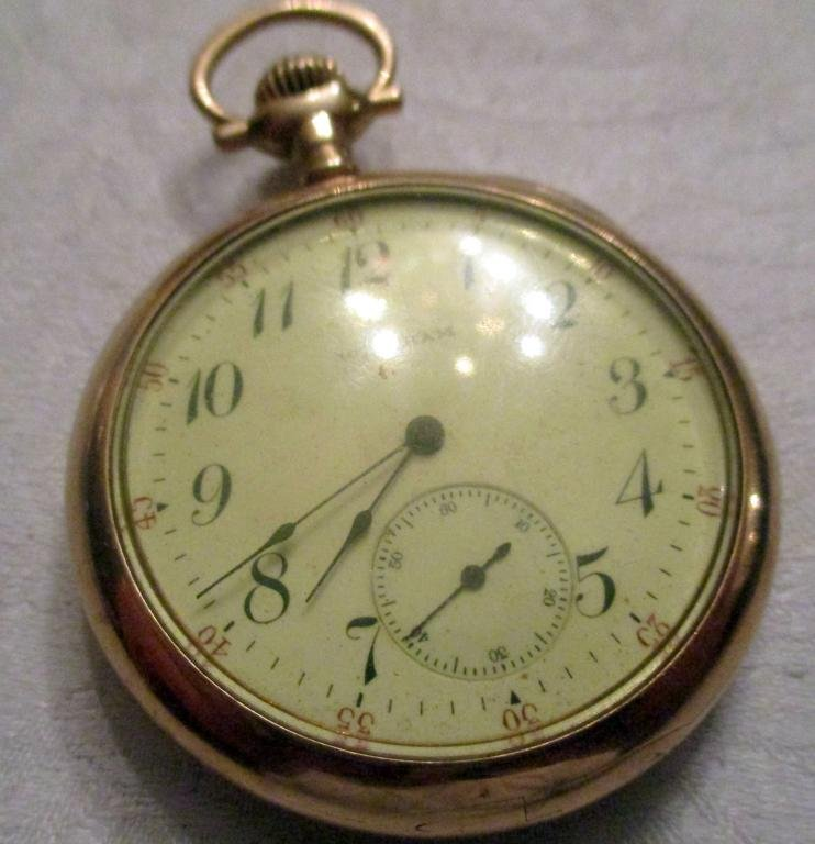 Man;s 14 k gold Pocket watch and Chain
