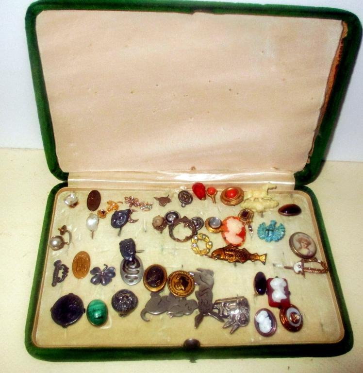 Collection of Victorian Tie & Lapel Pins