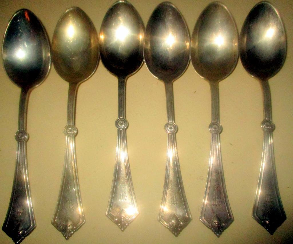 Set of Six Sterling Table Spoons for Tiffany & Co