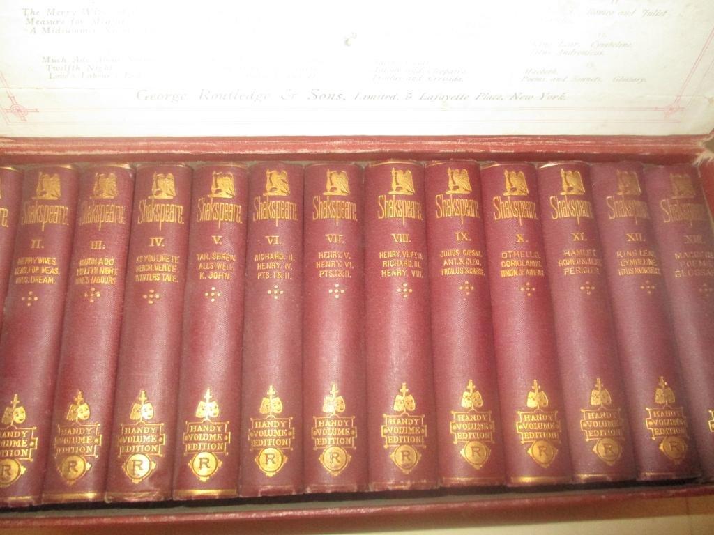Set of Thirteen Volumes Shakespearean Literature
