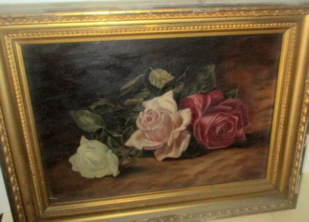 Victorian Painting of Roses