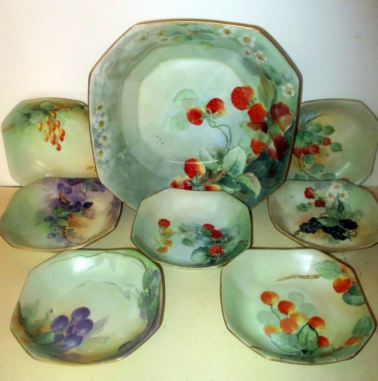 Limoges Porcelain Berry Set