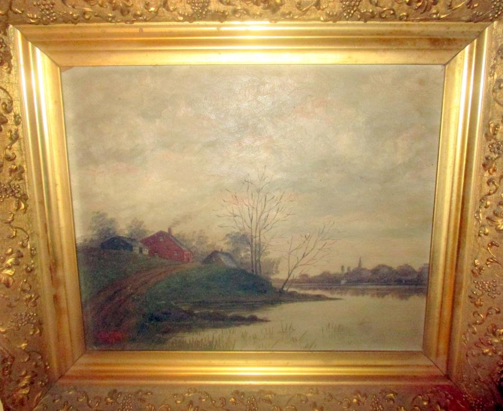 Oil Painting of Landscape Oil on Board 1895
