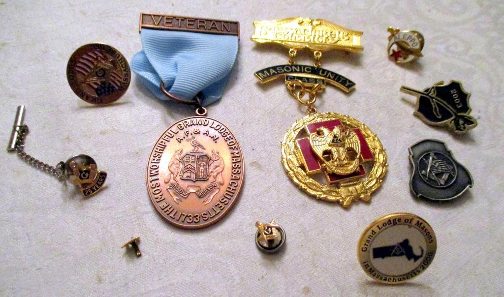 Lot of Masonic Medals and Pins