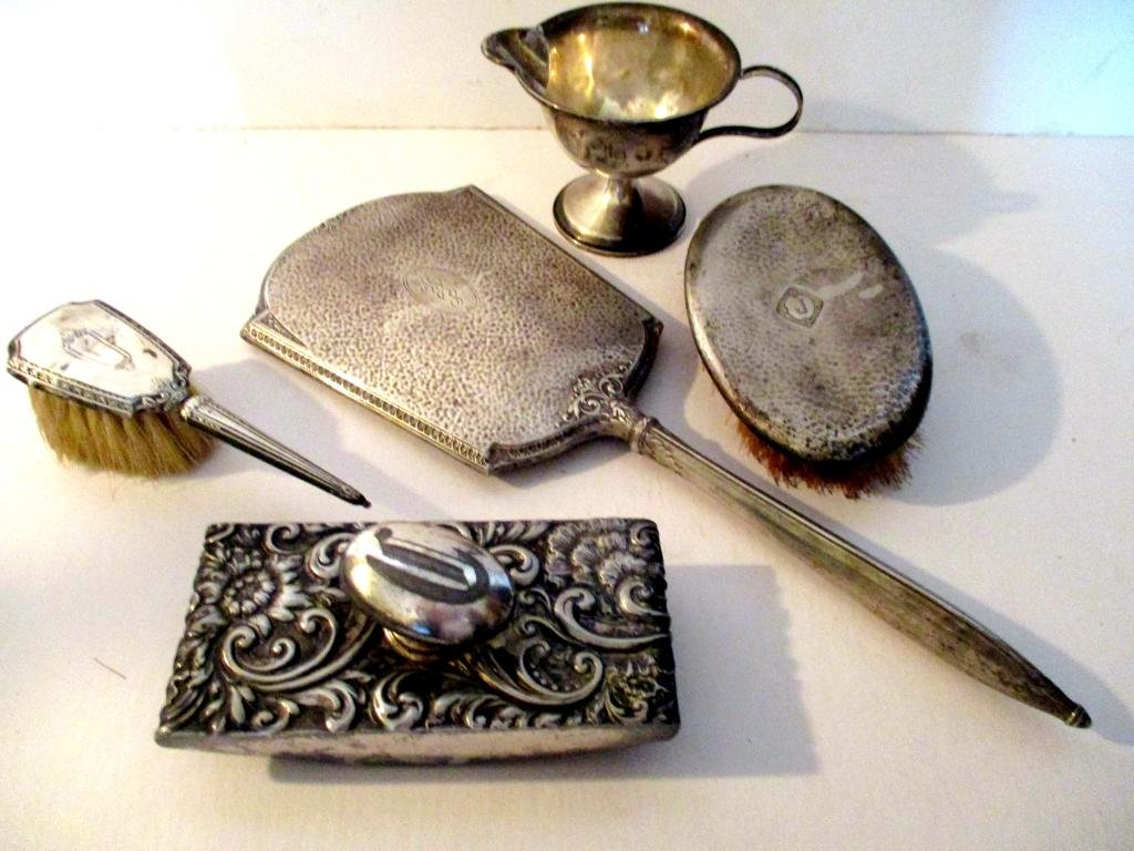 Miscellaneous Five Piece Lot of Sterling Silver