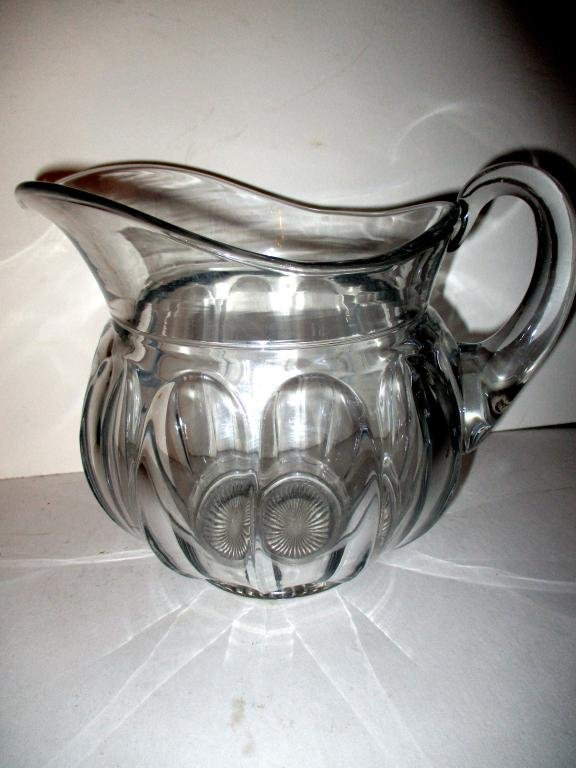 Large Heisey Glass Lemonade Pitcher