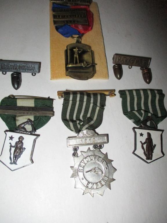 Lot of Vintage Marksman Medals