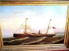 Ship Painting Portrait of The Allentown