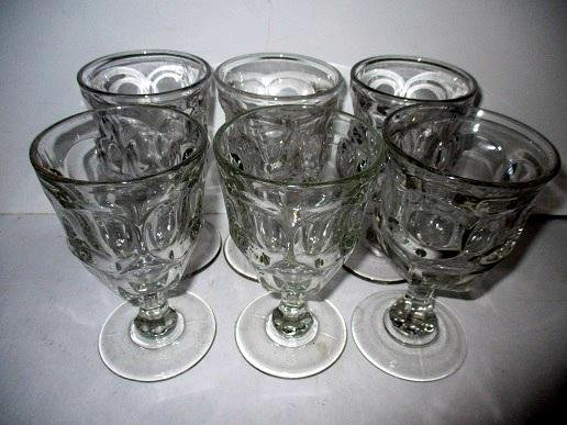 Lot of Six Antique Goblets